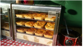 A Hot pie cabinet from eat square